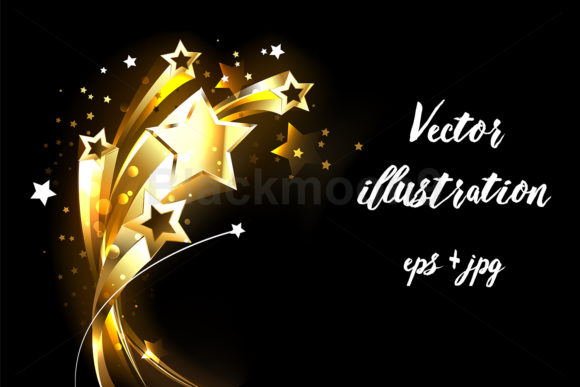 Soaring Gold Stars Graphic Illustrations By Blackmoon9