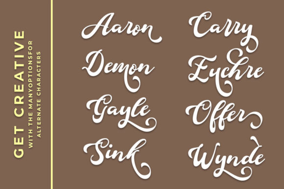 Print on Demand: Douglas Script & Handwritten Font By Aqeela Studio - Image 3