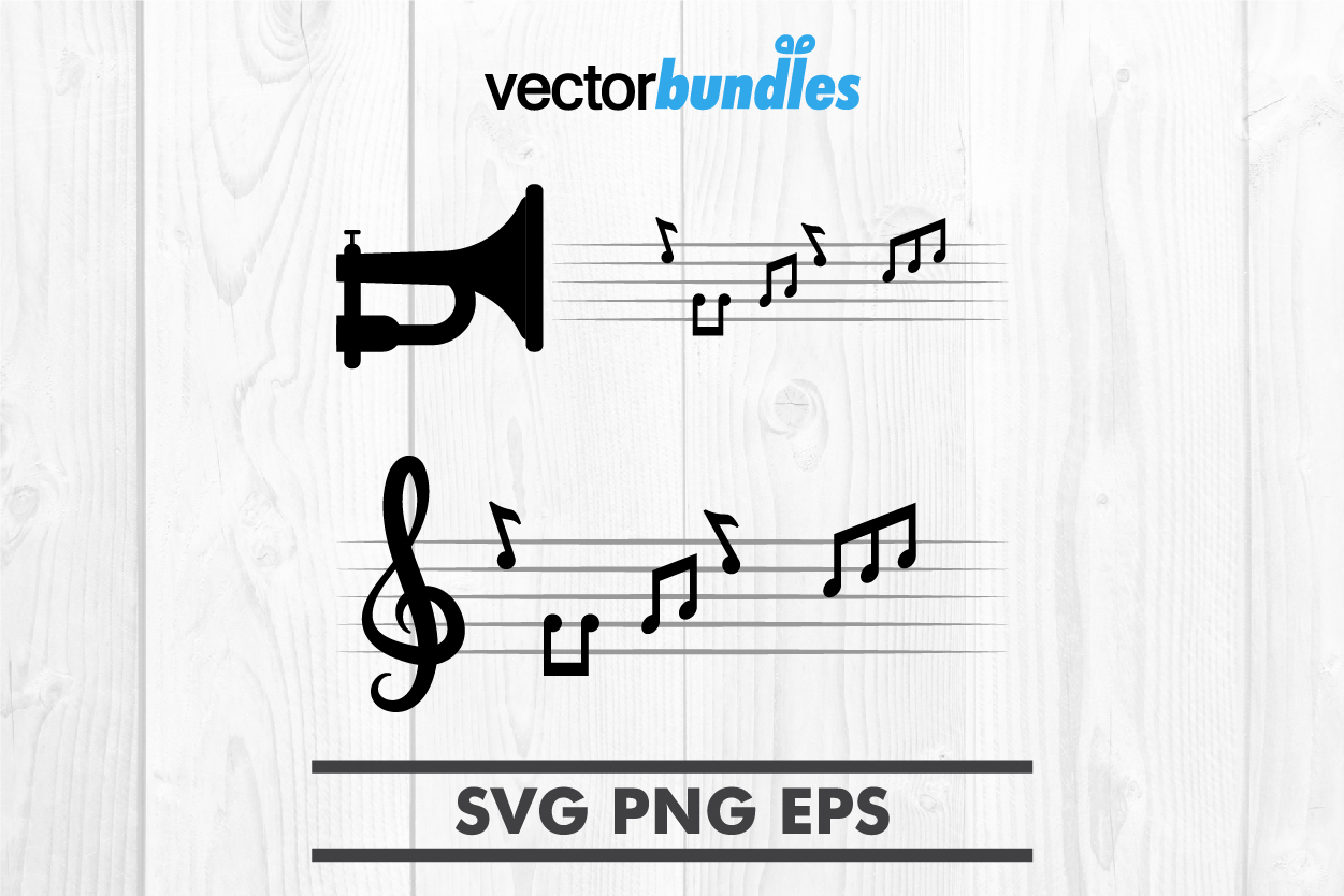 Download Free Music Notes Clip Art Svg Graphic By Vectorbundles Creative Fabrica for Cricut Explore, Silhouette and other cutting machines.