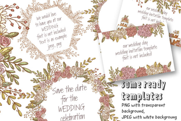 Download Free Wedding Clipart Set Graphic By Architekt At Creative Fabrica for Cricut Explore, Silhouette and other cutting machines.