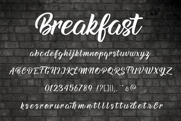 Print on Demand: Breakfast Script & Handwritten Font By Typestory - Image 2