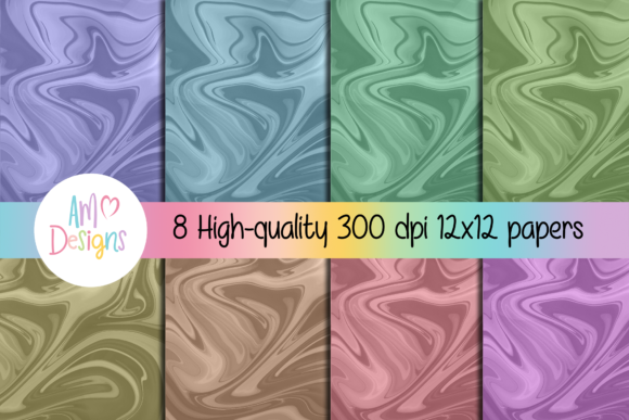 Download Free 8 Marble Backgrounds Scrapbook Paper Graphic By Am Digital for Cricut Explore, Silhouette and other cutting machines.