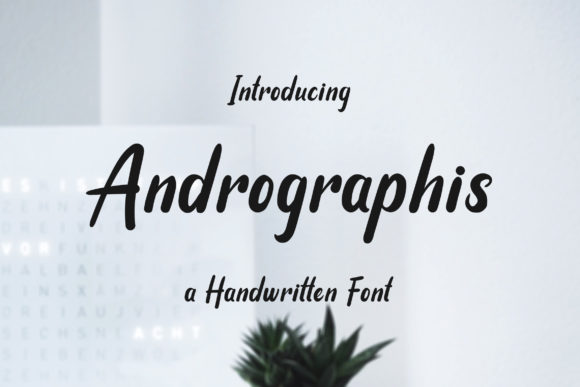 Print on Demand: Andrographis Script & Handwritten Font By practype