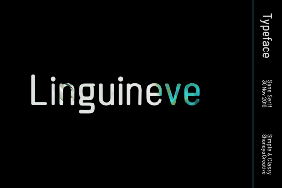 Print on Demand: Linguineve Sans Serif Font By Shanaya Creative