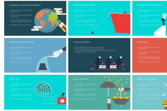 Business Metaphor Keynote Template Graphic Presentation Templates By renure - Image 2