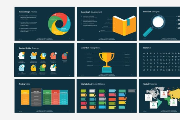 Business Template Think Keynote Graphic Presentation Templates By renure