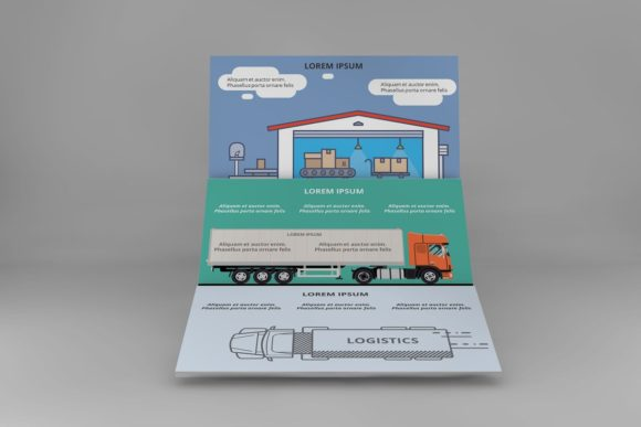 Logistics Infographic Keynote Graphic Presentation Templates By renure - Image 8