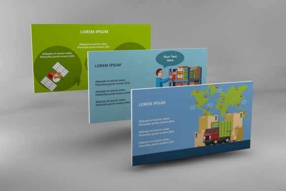 Logistics Infographic Keynote Graphic Presentation Templates By renure - Image 9