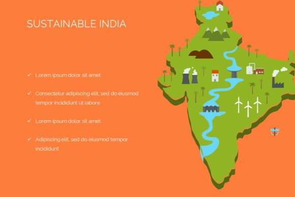 Sustainable India Keynote Templete Graphic Presentation Templates By renure - Image 1