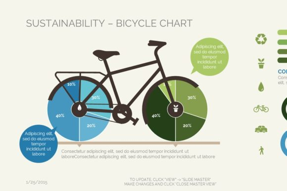 Sustainability Bicycle Chart Keynote Graphic Presentation Templates By renure - Image 2