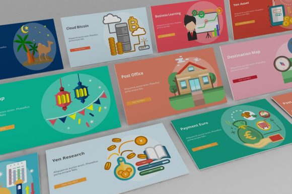 Visual Business Keynote Set3 Graphic Presentation Templates By renure