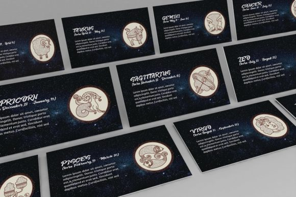 Zodiac Keynote Template Style 2 Graphic Presentation Templates By renure - Image 1