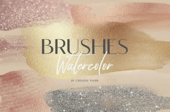 Print on Demand: Watercolor Brushes (PNG) 70 Textures Graphic Textures By Creative Paper