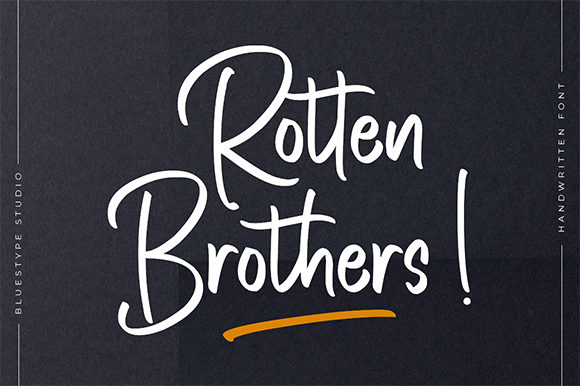 Print on Demand: Rotten Brothers Script & Handwritten Font By Bluestype Studio
