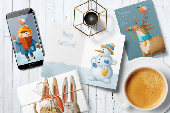 Print on Demand: Winter Characters Graphic Illustrations By Architekt_AT - Image 3