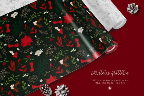 Print on Demand: Christmas Patterns Vol. 2 Graphic Patterns By webvilla
