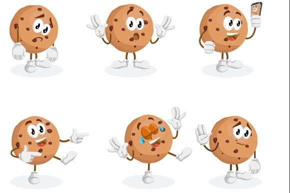 Download Free Cookies Mascot Logo Graphic By Nabila Studio Creative Fabrica for Cricut Explore, Silhouette and other cutting machines.