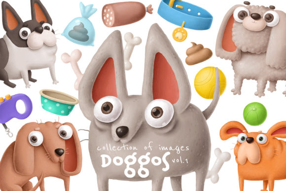 Print on Demand: Dogs Clipart Set 1 Graphic Illustrations By Architekt_AT - Image 1
