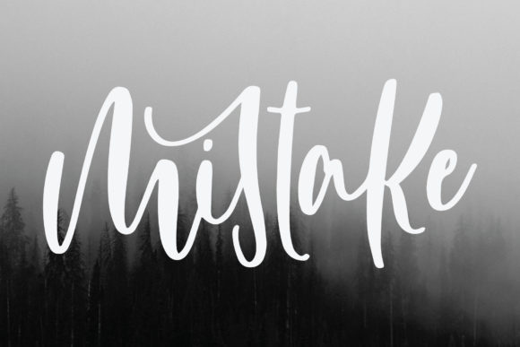 Print on Demand: Mistake Script & Handwritten Font By goodigital
