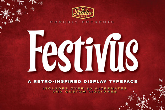 Print on Demand: Festivus Display Font By StudioWorks