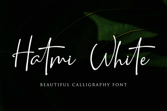 Print on Demand: Hatmi White Script & Handwritten Font By LetterBeary