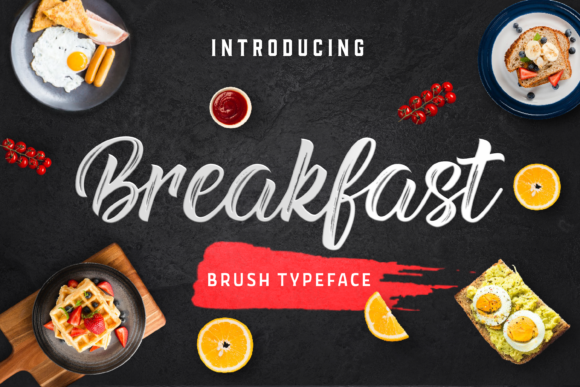 Print on Demand: Breakfast Manuscrita Fuente Por Typestory