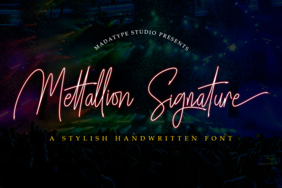 Print on Demand: Mettallion Script & Handwritten Font By Madatype Studio