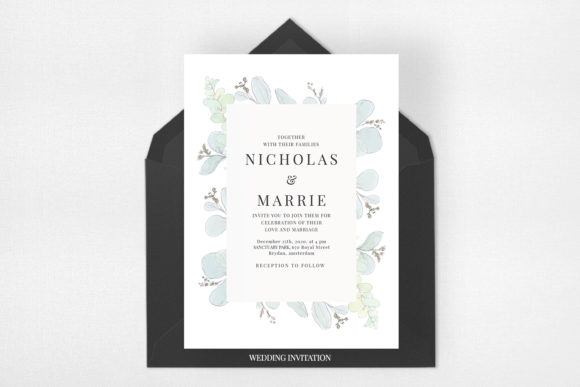 Modern Floral Wedding Suite Graphic Print Templates By Azka Creative - Image 2