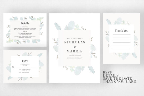 Modern Floral Wedding Suite Graphic Print Templates By Azka Creative - Image 3