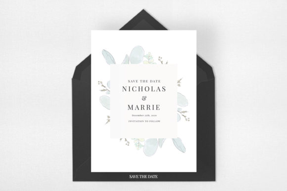 Modern Floral Wedding Suite Graphic Print Templates By Azka Creative - Image 4