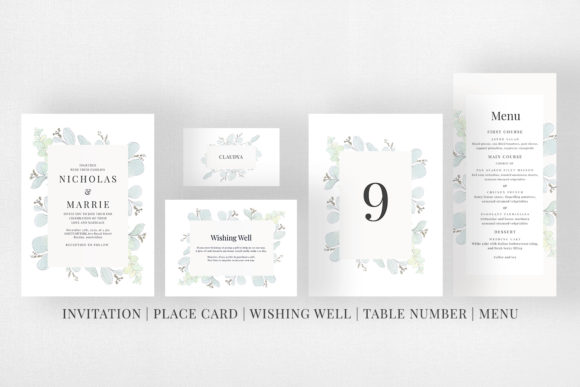 Modern Floral Wedding Suite Graphic Print Templates By Azka Creative - Image 5