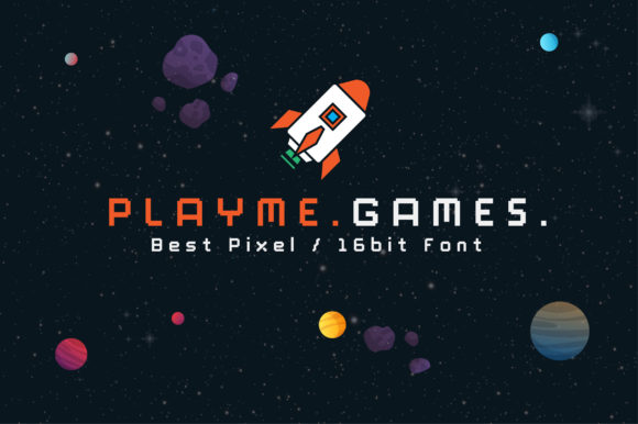 Print on Demand: PlayMe.Games. Display Font By AwesomeGraphic - Image 1
