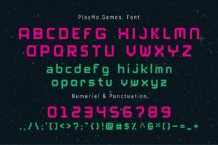 Print on Demand: PlayMe.Games. Display Font By AwesomeGraphic 2