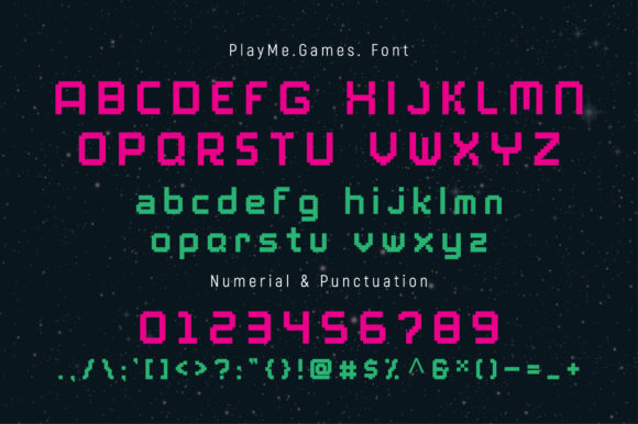 Print on Demand: PlayMe.Games. Display Font By AwesomeGraphic - Image 2