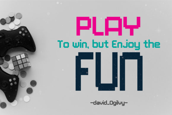 Print on Demand: PlayMe.Games. Display Font By AwesomeGraphic - Image 4