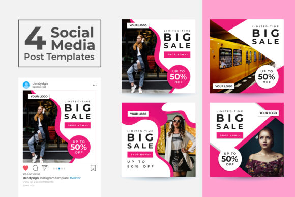 Print on Demand: Social Media Post Template Vol 43 Graphic Graphic Templates By dendysign