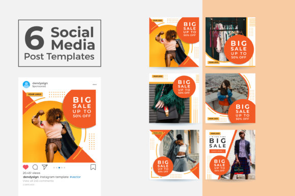 Download Free Social Media Post Template Vol 45 Graphic By Dendysign for Cricut Explore, Silhouette and other cutting machines.