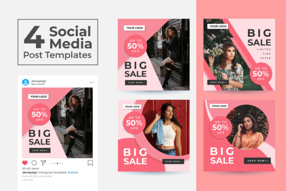 Print on Demand: Social Media Post Template Vol 40 Graphic Graphic Templates By dendysign