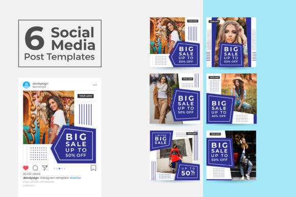 Print on Demand: Social Media Post Template Vol 46 Graphic Graphic Templates By dendysign