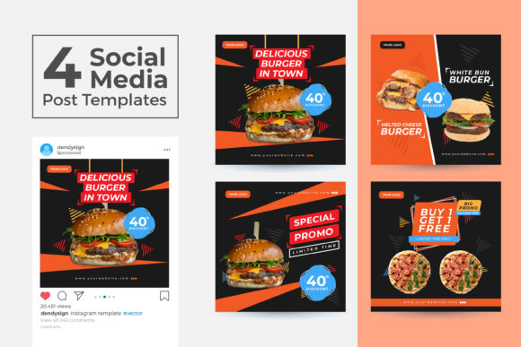 Print on Demand: Social Media Post Template Vol 37 Graphic Graphic Templates By dendysign