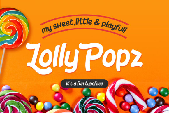 Print on Demand: Lolly Pop Display Font By rautanstudio