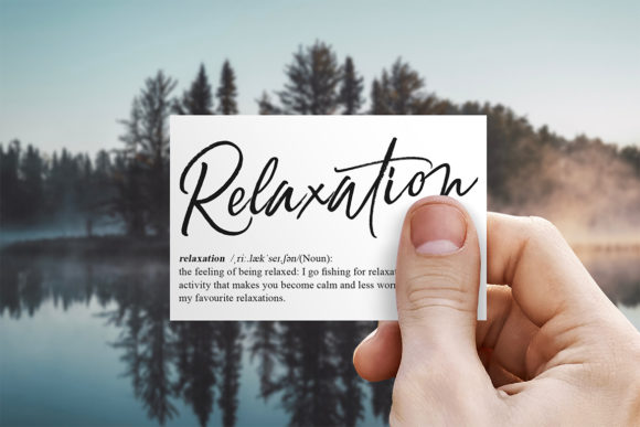 Print on Demand: Relaxation Script & Handwritten Font By Debut Studio - Image 3
