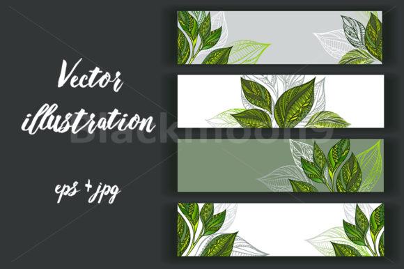 Set of Tea Banners Graphic Graphic Templates By Blackmoon9