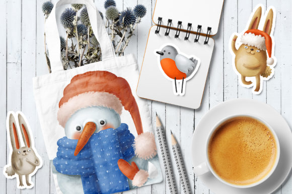 Print on Demand: Winter Characters Graphic Illustrations By Architekt_AT - Image 2