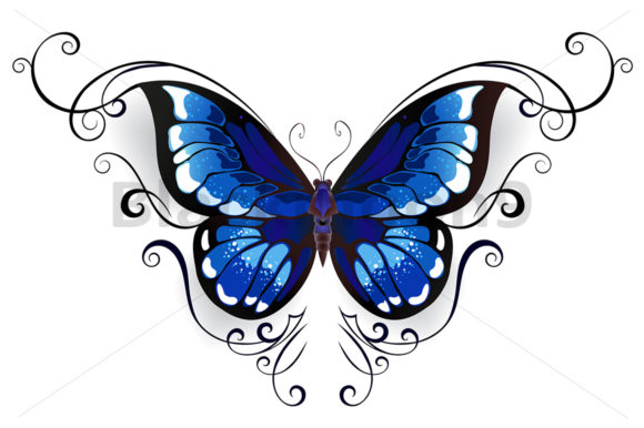 Download Free Tattoo Blue Butterfly Grafico Por Blackmoon9 Creative Fabrica for Cricut Explore, Silhouette and other cutting machines.
