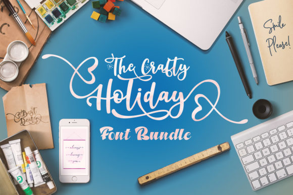 The Crafty Holiday Font Bundle