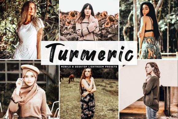 Print on Demand: Turmeric Pro Lightroom Presets Graphic Actions & Presets By Creative Tacos
