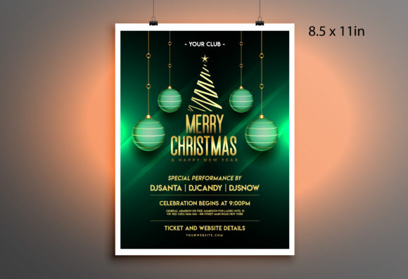 New Year Party Poster/flyer Template Graphic Print Templates By Skull and Rose