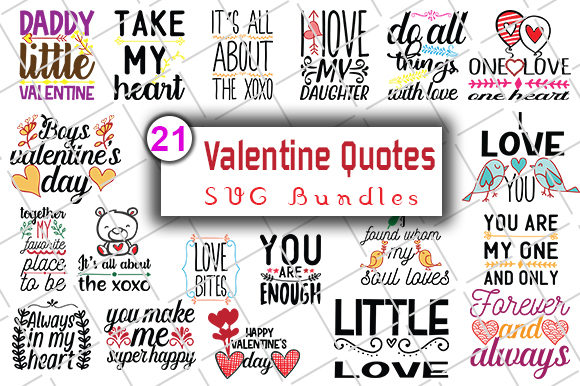 Print on Demand: Happy Valentine's Day Graphic Crafts By CreativeArt - Image 1