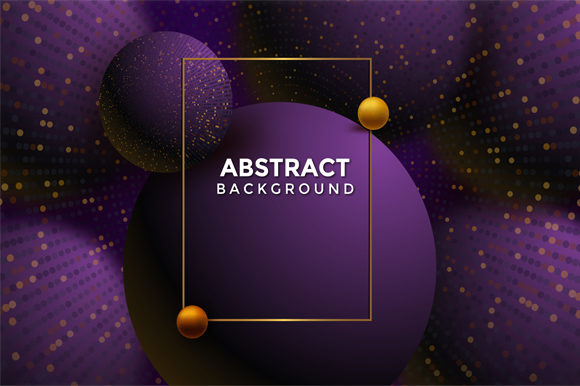 Print on Demand: Violet Golden Space Background Graphic Graphic Templates By imammuslim835 - Image 1